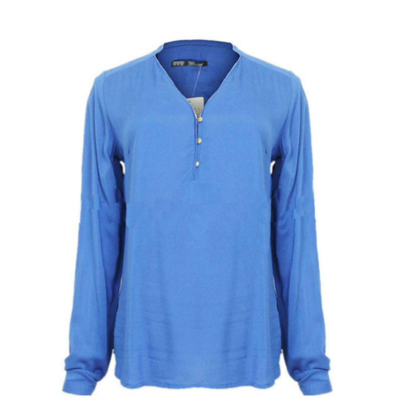 100% Silk v neck long sleeve women tops and blouses