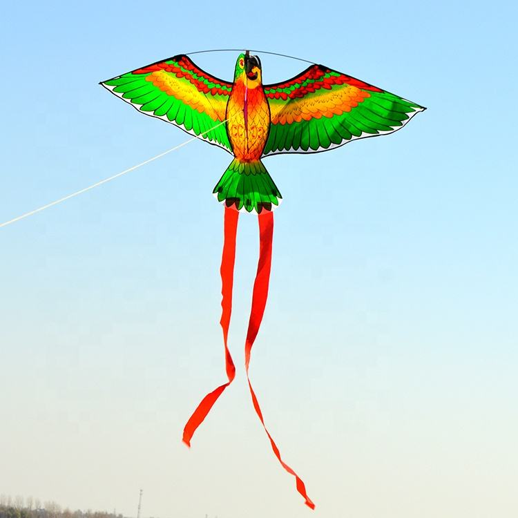 Gift For Kids Flying Toys Customizable Triangle Parrot Kite Bird Shape Design Ripstop Polyester