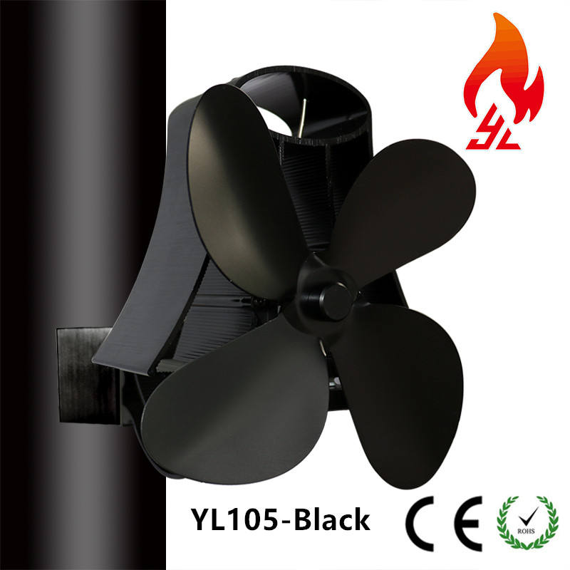 New Magnetic Flue Pipe Heat Powered Stove Fan