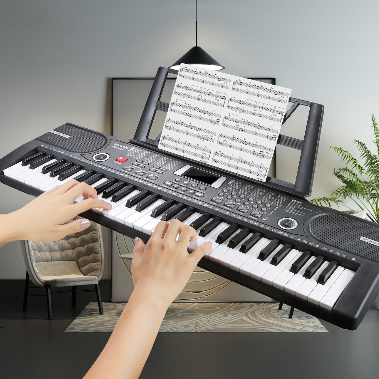 61 keyboard Presents for the children interactive toy stand piano musical keyboard toy electronic organ