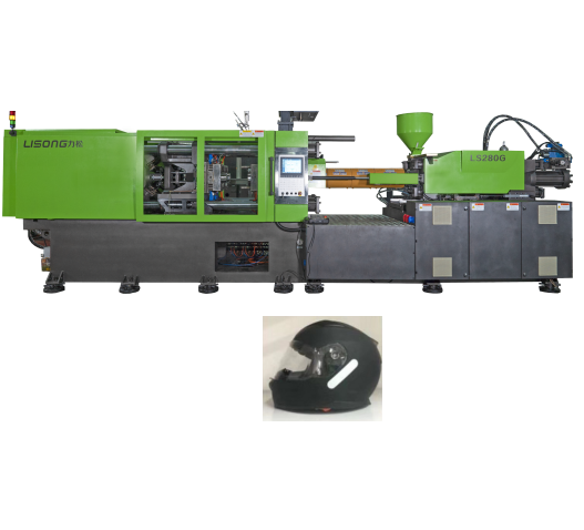 LS280-5G high servo injection moulding machine 2 cavity hot sell safety helmet making machine
