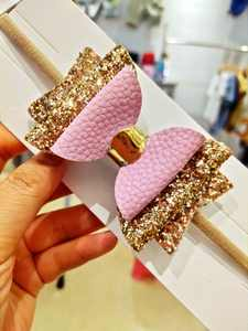Promotional Unique Headband Glitter Bow For Girls Hair Accessories