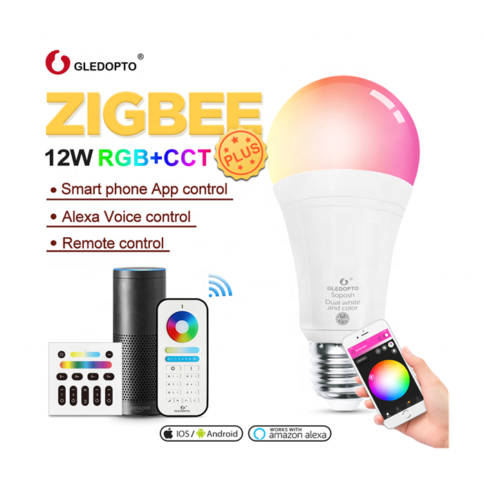 Zigbee lamparas led E27 E26 base US EU standard Smart Remote Control Changeable led Lights