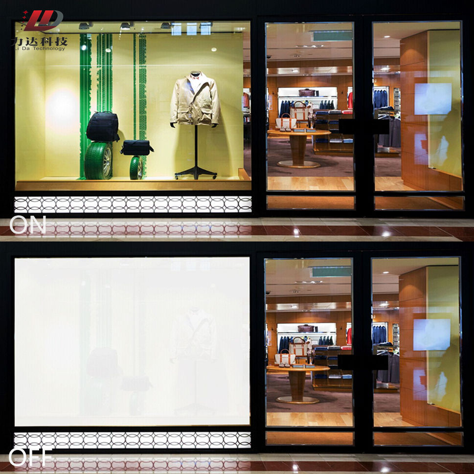 High transparent self adhesive pdlc smart glass film 100% UV protection