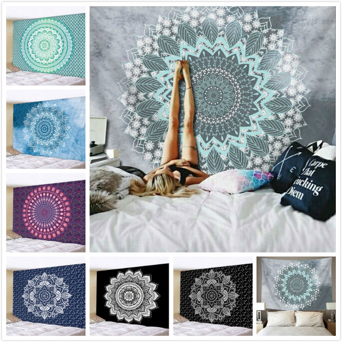 Custom Printed Indian Mandala Bohemian Hanging Wall Tapestry