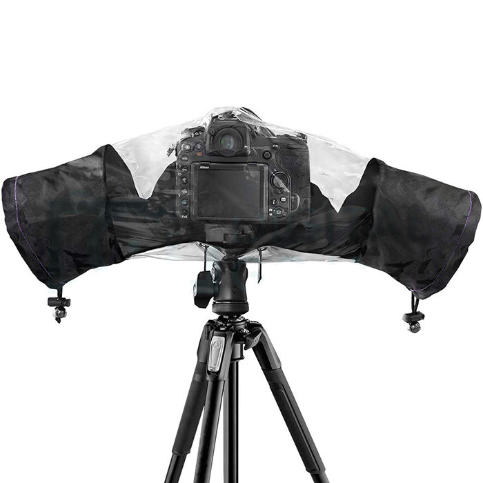 Best Quality Nylon Material Rainproof DSLR Camera Rain Cover Protector for Nikon Canon