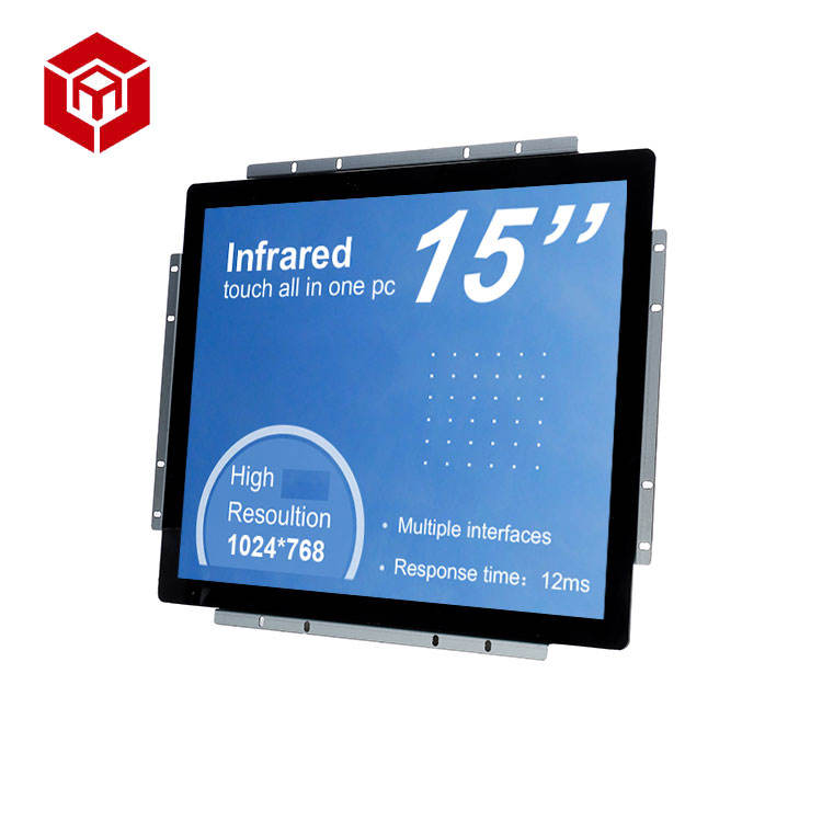 Multi interfaces Silver open frame 15 inch pc all in one pc touch screen ir computer