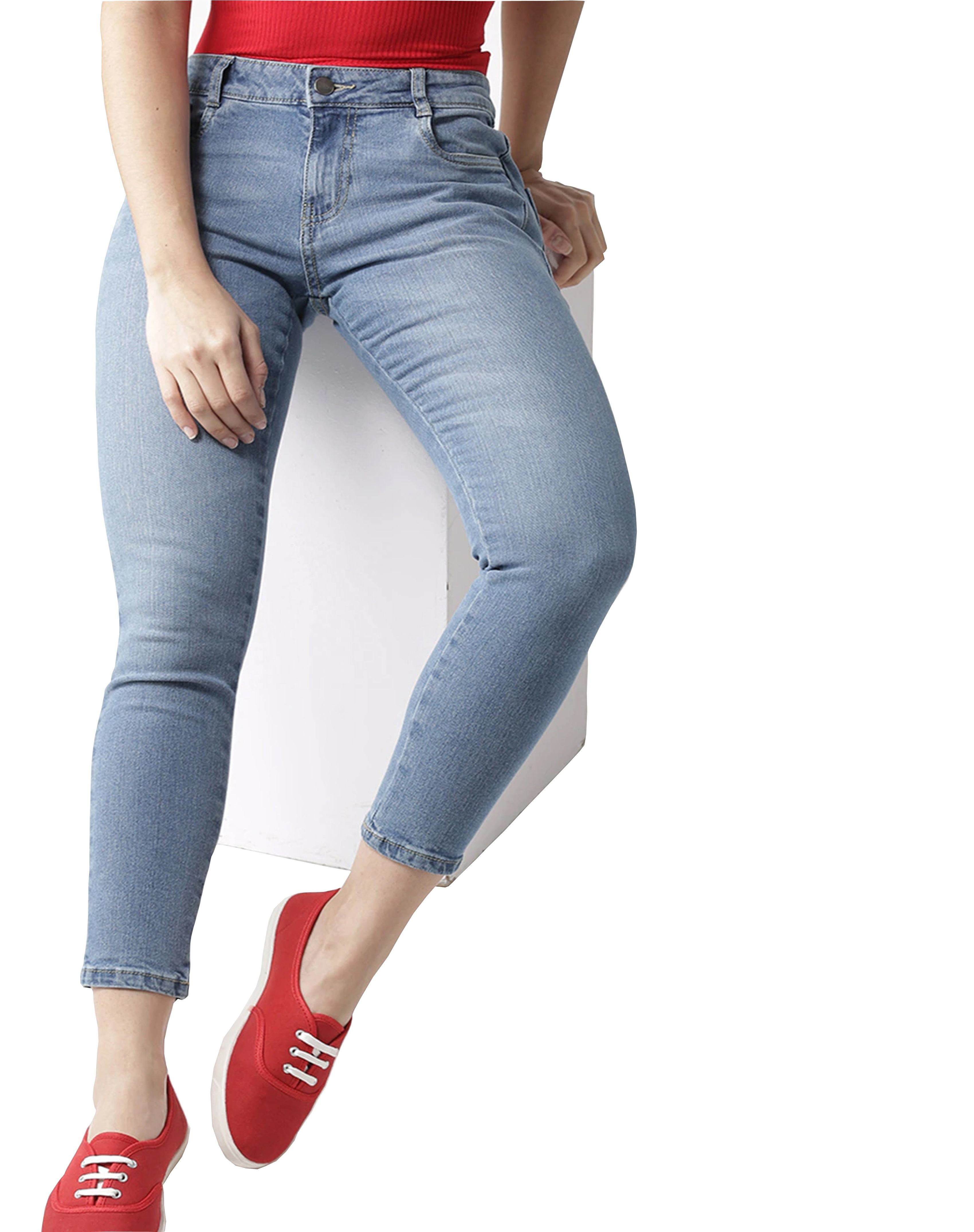 Fashion new hot tight sexy stretch high rise pencil hole denim pant women's jeans