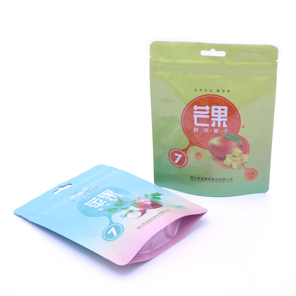 Resealable Transparent Small Cookies Powder Mylar Standing Baby Food Packaging Pouch Bags