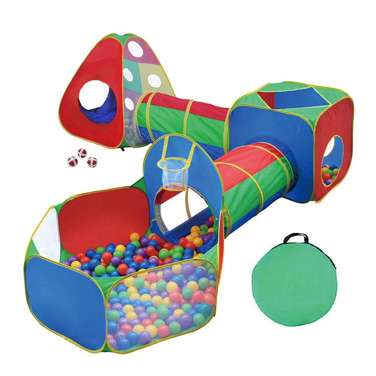 5Pcs/Set Play Tent Baby Toys Ball Pool for Children Tent Baby Tent House Children's Crawling Tunnel