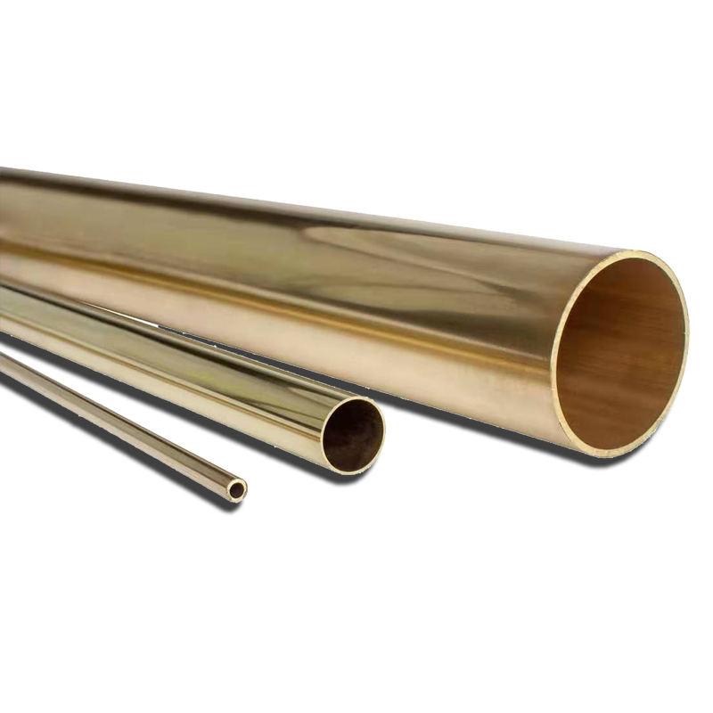 yellow thick walled large diameter C26800 brass tube