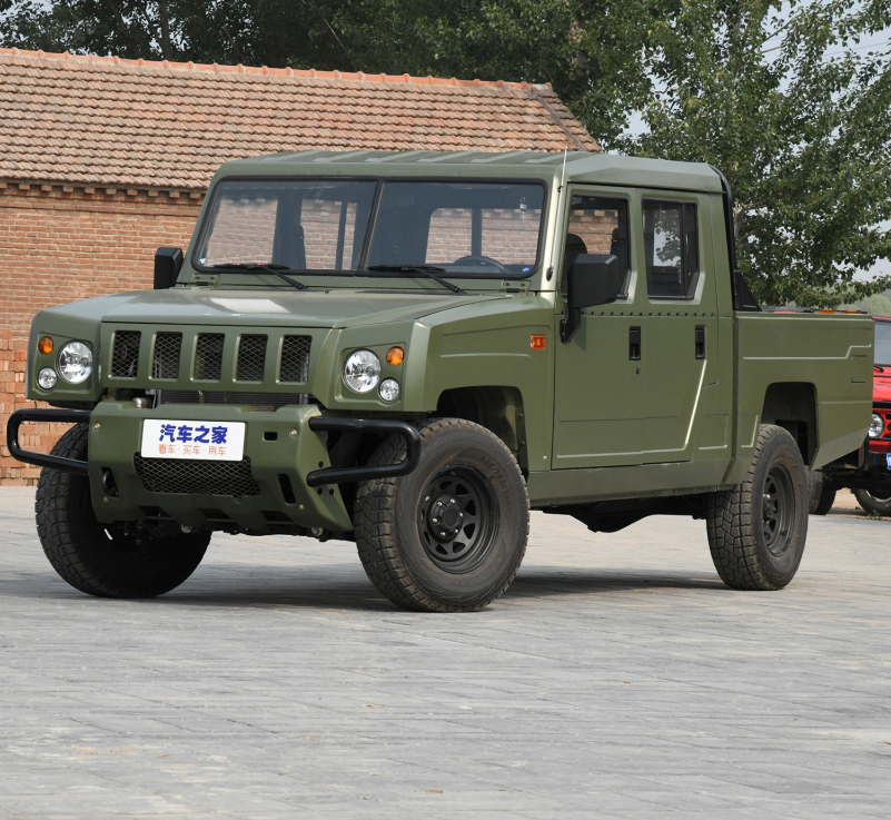4WD Army green Doppio cabina camion pick-up