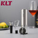 KLT 4In1 Corkscrew and Bottle Opener White Screwpull Wine Opener Parts Electric Wine Opener Gift Set