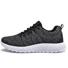 New Soccer Leisure Running Sneakers Flying Knitting Breathable Flat Mesh Sports Shoes