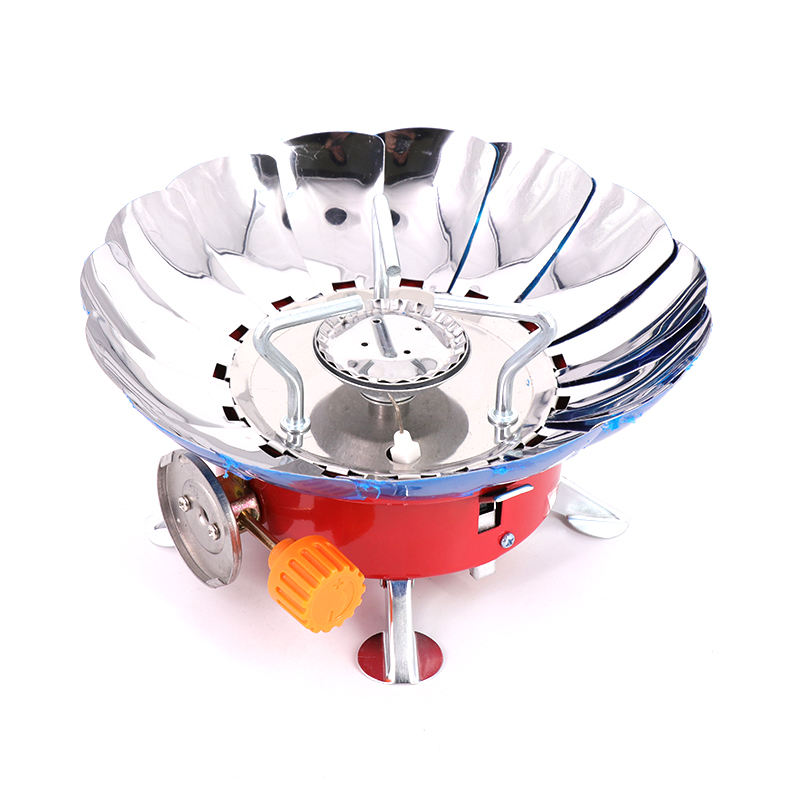 Flower Shape Ultralight Camping Stove Portable Mini Outdoor FoldingBurner Picnic Barbecue Gas Stove