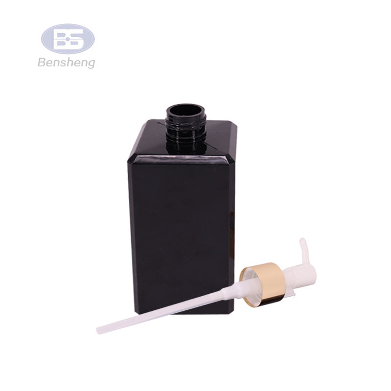Customize Liquid Soap Hdpe Pet 150ml 250ml 300ml 16 oz White Shampoo Pump Lotion Black Plastic Square Bottle