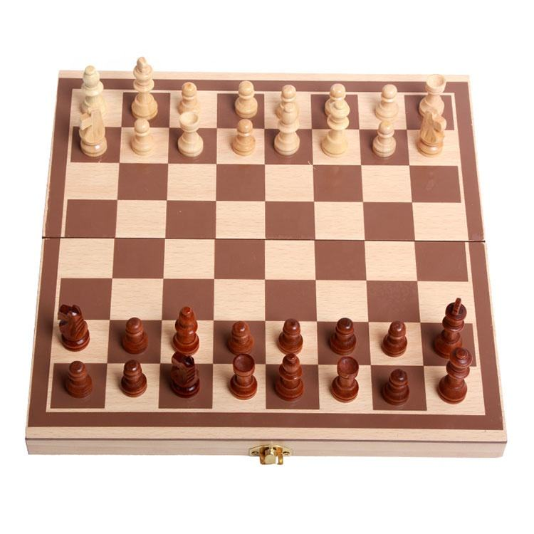 Wholesale Folding Backgammon Wooden Chess Game Chess Set Manufacturer Chess Board