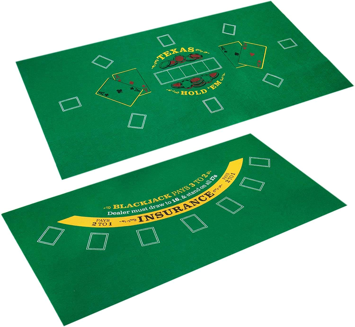 "Mesa de Poker Blackjack & Casino Mini Felt Conveniente Space-Saving 36 ""x 18"" Roll-up Casino esteira do jogo de Mesa"