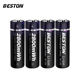 BESTON 1.5v li-ion lithium AA 2800mWh rechargeable battery for MP3/Camera/microphone