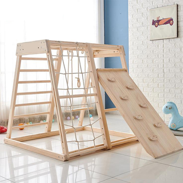 Kids Pikler Triangle Frame Toys climbing play Children's pikler gym wooden playground kids outdoor indoor toys rock and play