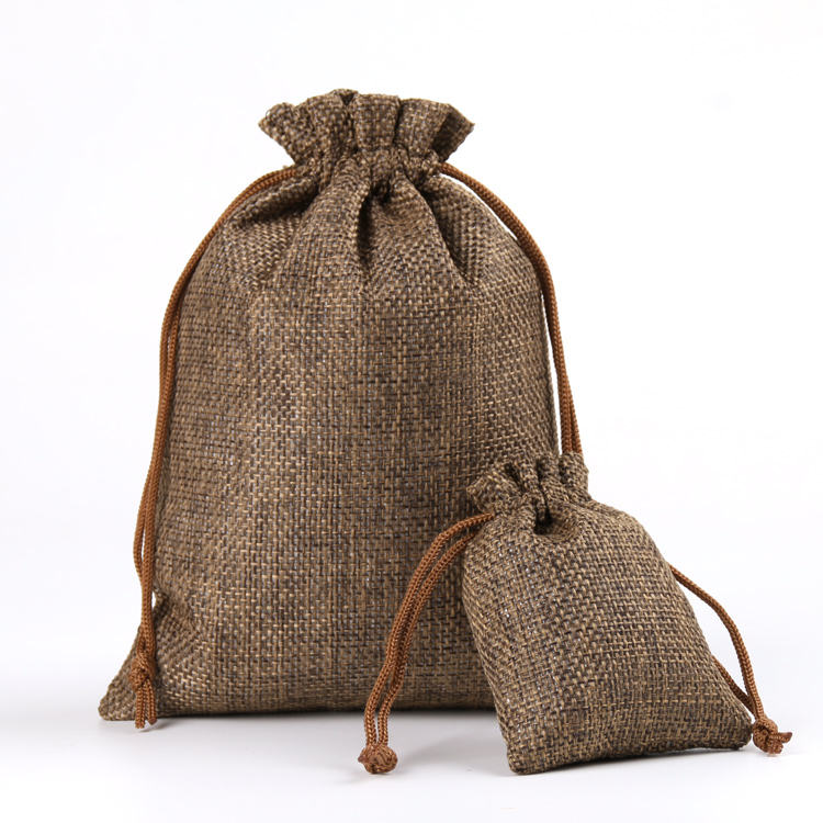 Cheap High Quality Rice Sack Bag Hotsale Drawstring Jute Bag for Gift, Candies