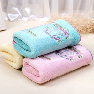 Quick-dry customized face towels wholesale customized logo cheap microfiber towel