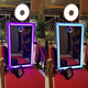 cheap smart Touch Screen Photo Booth For Sale 65 inch Magic Mirror Photo booth for christmas