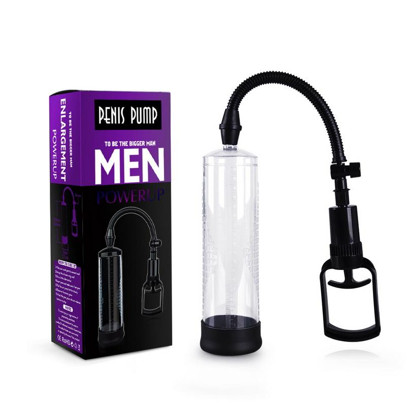 Manual Penis Vacuum Inflatable Pump Enhancement Booster Extender for Masturbation Cup Booster Massage Care for Men