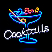 Art Wall Decorative led custom made cocktails neon sign light