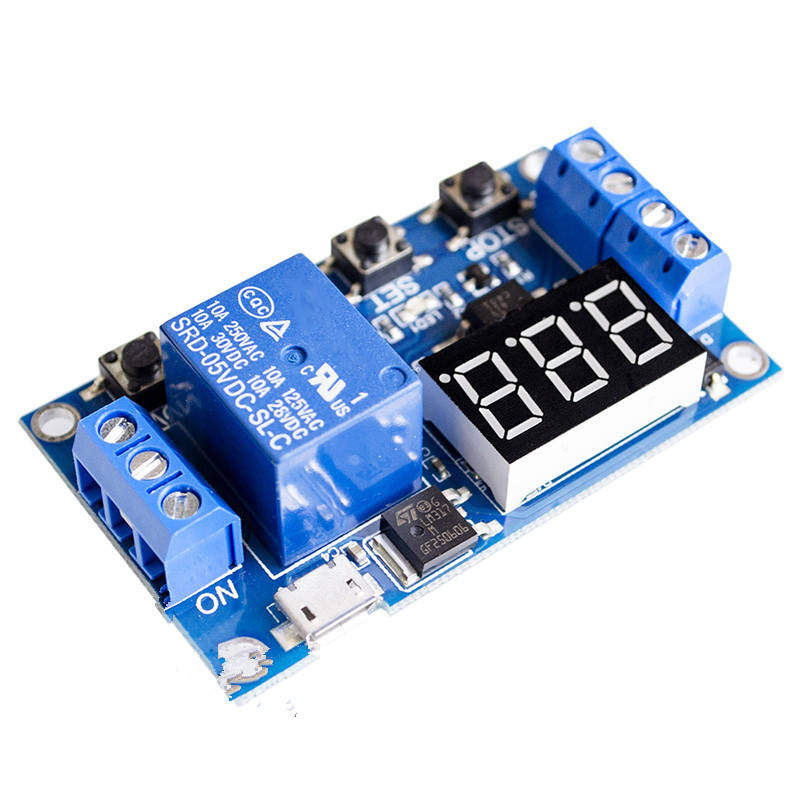 Uworld 6 ~ 30V 12V 24V Micro Usb 5A 1 Channel Delay Timer Relais Module Cyclus Op/Off Timer Vertraging Power Off Trigger Switch Module