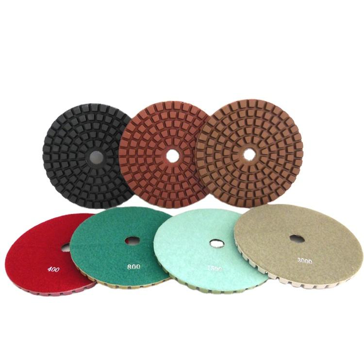 Diameter 5 inch Resin Hybrid Copper Bond Diamond Rigid Polishing Pads For Grinding Concrete Terrazzo Granite Marble Stone Floor