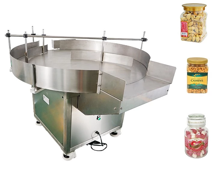 Accumulation Table Bottle Collection Table Rotary Jar Feeding Table Machine
