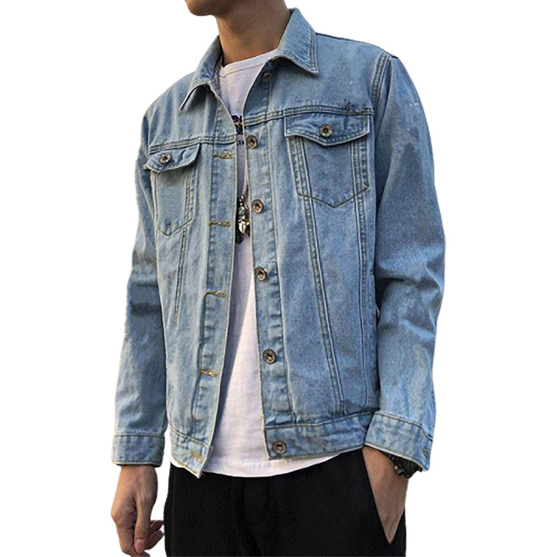 Spring and autumn explosions men's loose denim long-sleeved jacket handsome clothes trend coat
