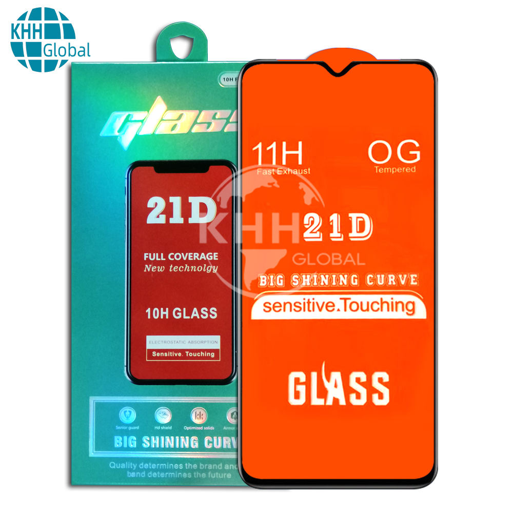 wholesale Hot 21D tempered glass full glue full cover for tecno Spark 4 Lite Spark5 Air Camon 15 Pro LC7 LC8 screen protector