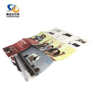 Custom A2 A3 A4 A5 Offset Foldable Commercial Poster Booklet Brochure Flyer Printing