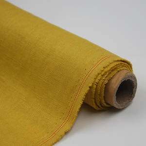 Online eco friendly 200gsm heavy flax 100% linen fabric for men's and women's suiting