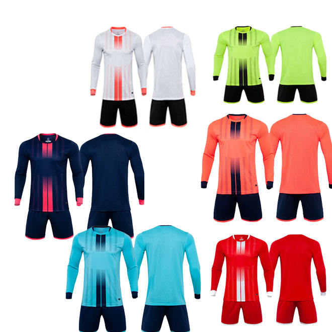 Breathable Thai quality jersey soccer tracksuit quick dry soccer jersey long sleeve soccer uniform