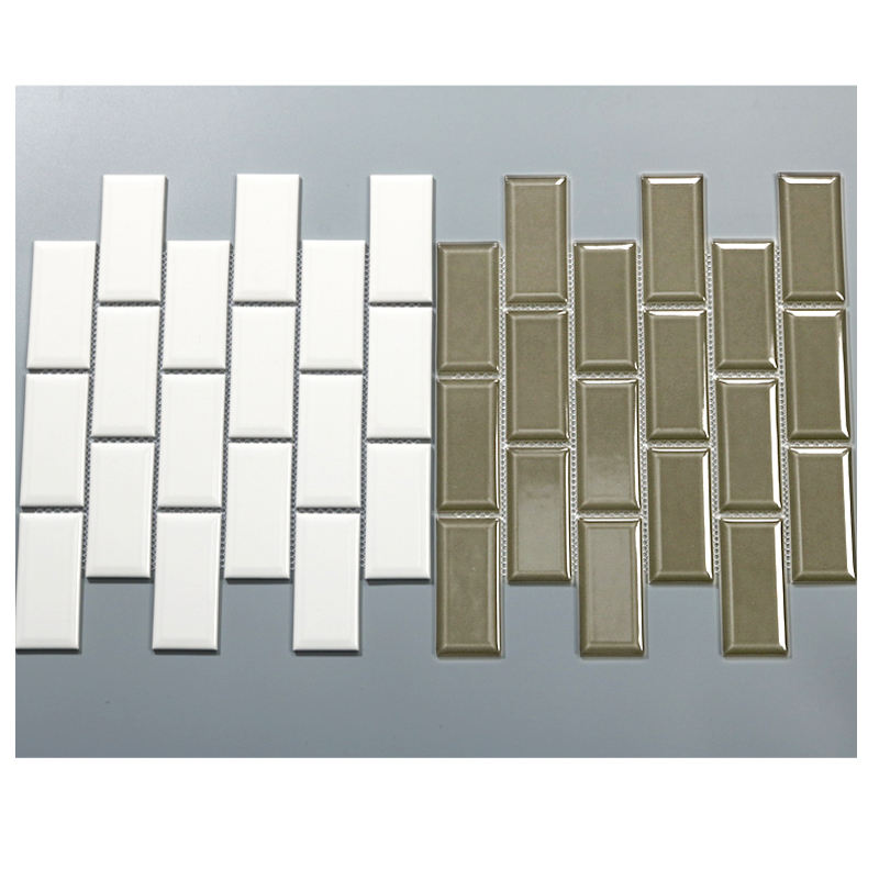 In Stock Grey Black White Colors Glossy Glazed Subway Mosaic Tile Metro Ceramic Wall Tile for Kitchen Bathroom Home Decor