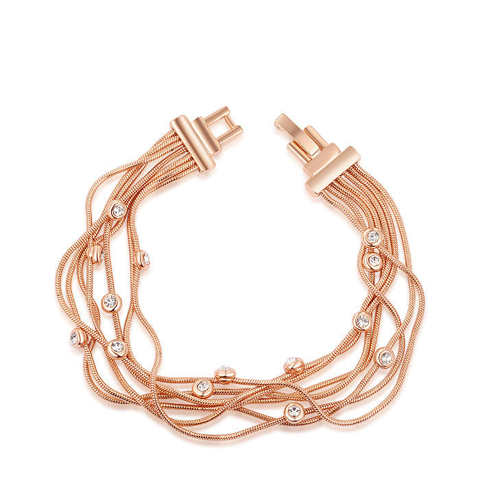 Engagement Gift Golden Plated Alloy Bracelet Gift For Women Fine Jewelry Fashion Copper Alloy Bracelet