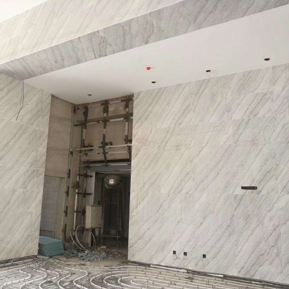 Wholesale cheap grey veins marble natural cheap white marble