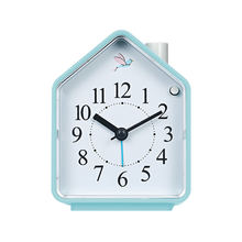 small hand make camera wake up electric shock table top loudly music snooze led digital night light smart alarm clock