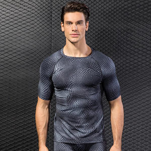 3D print Custom Sports Gym T Shirt Wholesale Men's Fitness Workout Clothing