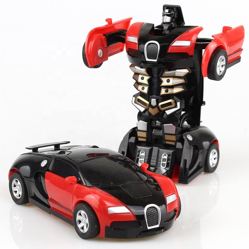 Hot selling wholesale automatic transformed deformation robot changed cheap kids baby children educational toy car