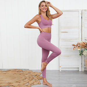 Seamless Gym Set Nylon Woman Sportswear 2 Piece Seamless Bra and Leggings Women Fitness Wear Yoga Sets Sports Suits