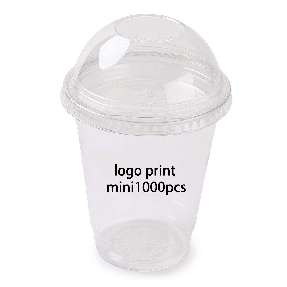 logo printed disposable Crystal Clear PET Plastic Cups