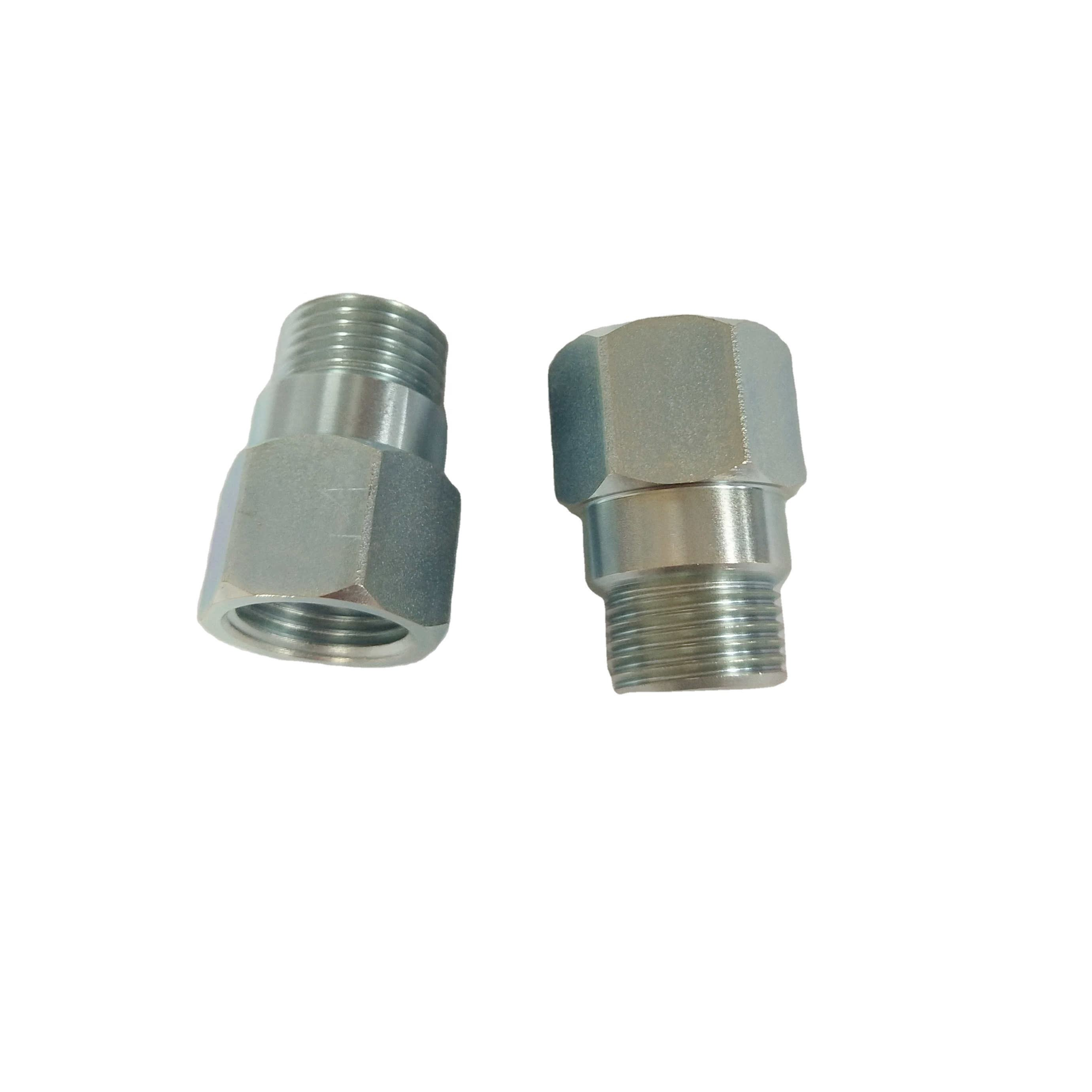 Newest cnc turning mild steel 34mm long oxygen sensor spacer with M18*1.5