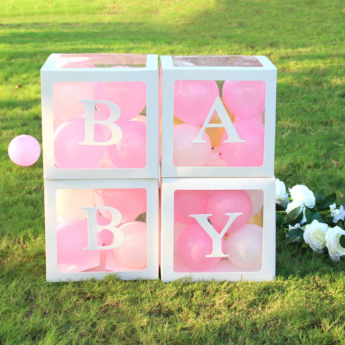 Baby Shower Favors Gender Reveal Boys Girls Birthday Party Favors Gift Event Party Supplies Baby Blocks Baby Shower Boxes