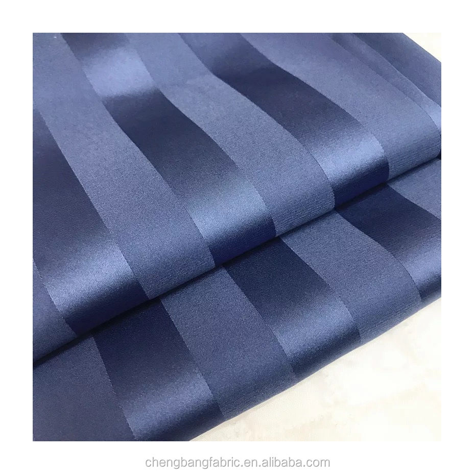 Ready to Ship High Quality Stretch Fabric Stripe Satin Chiffon For Dress