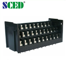 Pitch 7.62mm 300V 15AM 3 level 10pin screw strip barrier terminal connector blocks