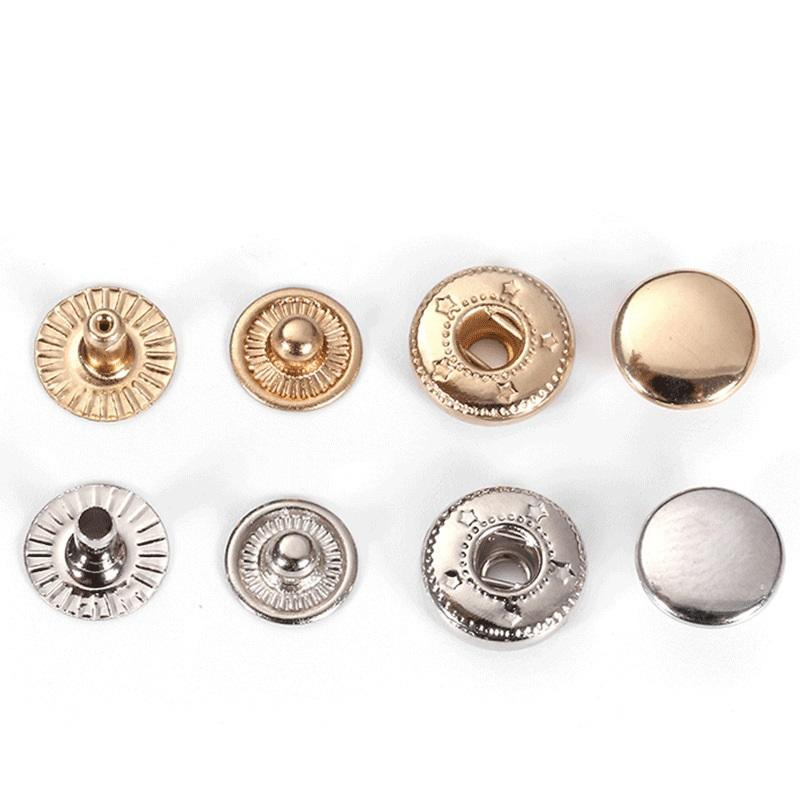 custom metal pendant & metal button snaps for leather Hot sale fashionable custom made simple metal 10/12mm leather snap